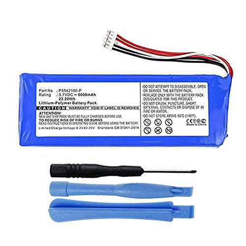 MPF Products 6000mAh P5542100-P Battery Replacement Compatible with JBL Pulse 3 Waterproof Bluetooth Speaker