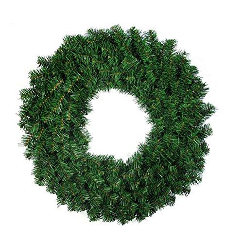 OULII 40CM Tannenkranz Weihnachtskranz Weihnachtsdeko grün Türkranz Girlande Party Wand Haus Dekor