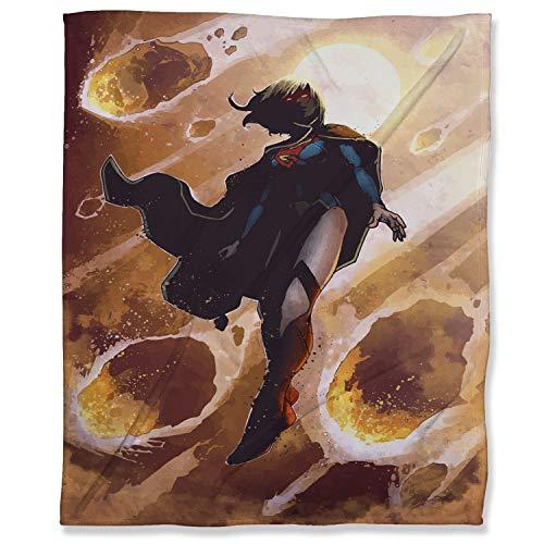 ARYAGO Manta ultra suave de 150 x 200 cm, para cama o sofá de viaje, Supergirl