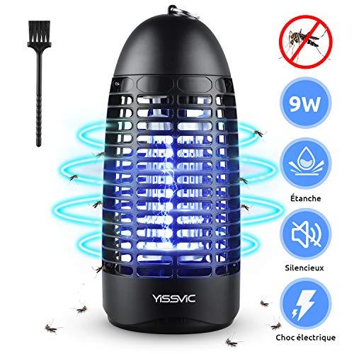 YISSVIC Lampe Anti Moustique Électrique, Tueur de Moustique 9W Tueur Insectes Mouches Piège sans Radiation avec Lampe UV Lutte Contre Les Moustiques et Autres Insectes Interieur et Extérieur