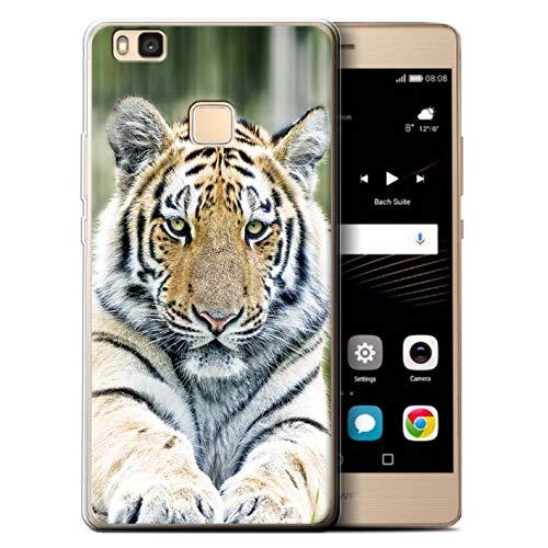 eSwish Custodia/Cover/Caso/Cassa Gel/TPU/Prottetiva Stampata con Il Disegno Grandi Felini Selvatici per Huawei P9 Lite (2016) - Tigre Siberiana/Amur
