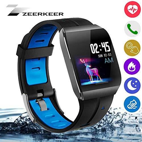 Zeerkeer Smart touchscreen-horloge, waterdicht horloge met elektronische bloeddrukmeter, voor Android en iOS, waterdicht