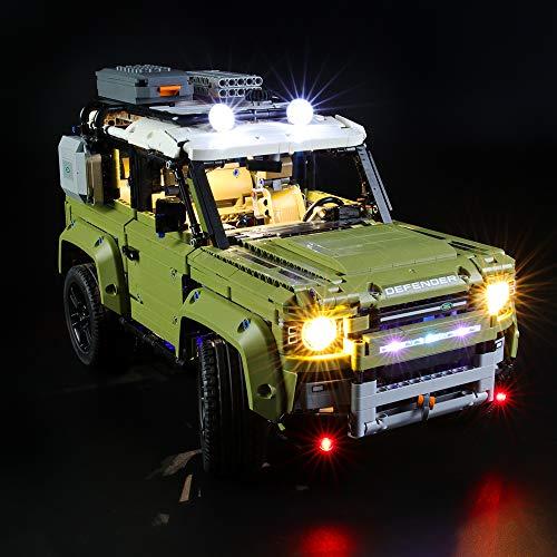 BRIKSMAX Kit de Iluminación Led para Lego Technic Land Rover Defender,Compatible con Ladrillos de Construcción Lego Modelo 42110, Juego de Legos no Incluido