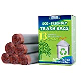 Trash Bags 13 Gallon,Tall Kitchen Garbage Bags 13 Gallon Biodegradable Drawstring Unscented 49L Trash Can Liner Heavy Duty 150 Count