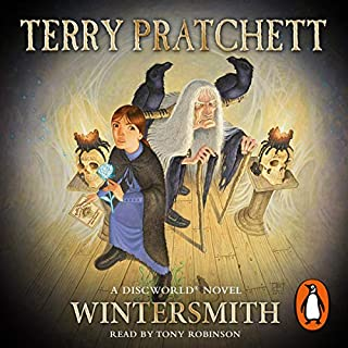 Wintersmith     Discworld Book 35, (Discworld Childrens Book 4)              Written by:                                                                                                                                 Terry Pratchett                               Narrated by:                                                                                                                                 Tony Robinson                      Length: 4 hrs and 20 mins     Not rated yet     Overall 0.0