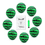 Koogel 8 PCS Watermelon Ball Needle Kit,Beach Balls 6.2 Inch Water Bouncing Ball Air Fillable Balls Watermelon Toy for Summer Party Swimming Pool Beach Outdoor Games