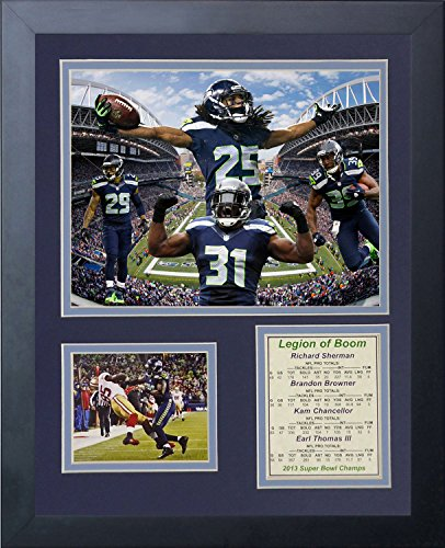 "Seattle Seahawks 2014 NFL Super Bowl XLVIII Champs Collectible | Framed Photo Collage Wall Art Decor - 12""x15"" 