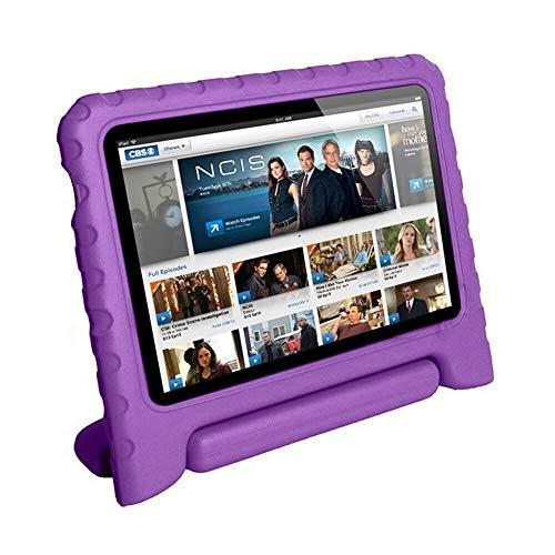 ghn Funda para tablet de 7 pulgadas para Kindle Fire 2015, portátil, plegable, a prueba de golpes, resistente a los arañazos, soporte protector para tablet (color: morado)