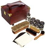 [ブートブラック]SHOE CARE SET COSMOPOLITAN BBコスモポリタン (木製箱(ブラウン)木製箱+13点)