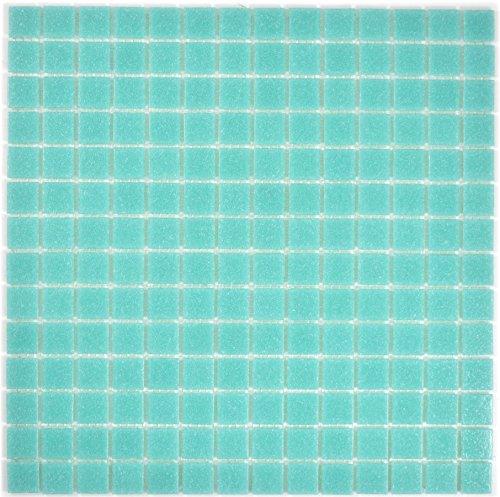 Mosaik Fliese Glas türkis grün für BODEN WAND BAD WC DUSCHE KÜCHE FLIESENSPIEGEL THEKENVERKLEIDUNG BADEWANNENVERKLEIDUNG Mosaikmatte Mosaikplatte