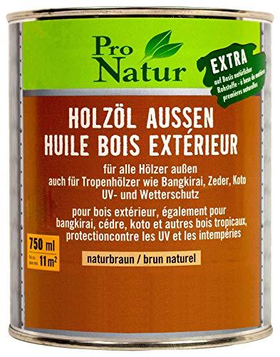 Pro Natur Holzöl aussen 0,75L naturbraun Terrassenöl Gartenmöbelöl