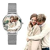 Orologio personalizzato in acciaio inossidabile con foto per gli amanti Regalo personalizzato...
