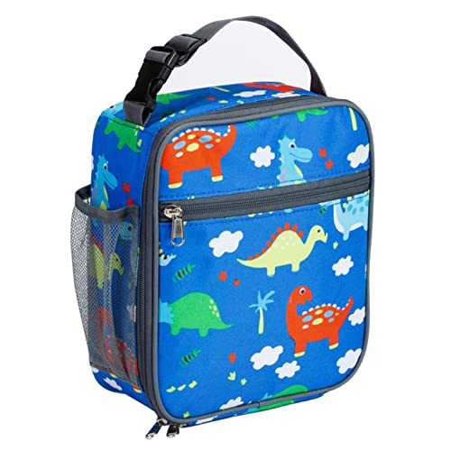 Amusingtao Fiambrera portátil para niños, bolsa de almuerzo para niños en la escuela, bolsa de almuerzo para niños con 3 compartimentos, bolsa de almuerzo aislada para niñas para viajes escolares