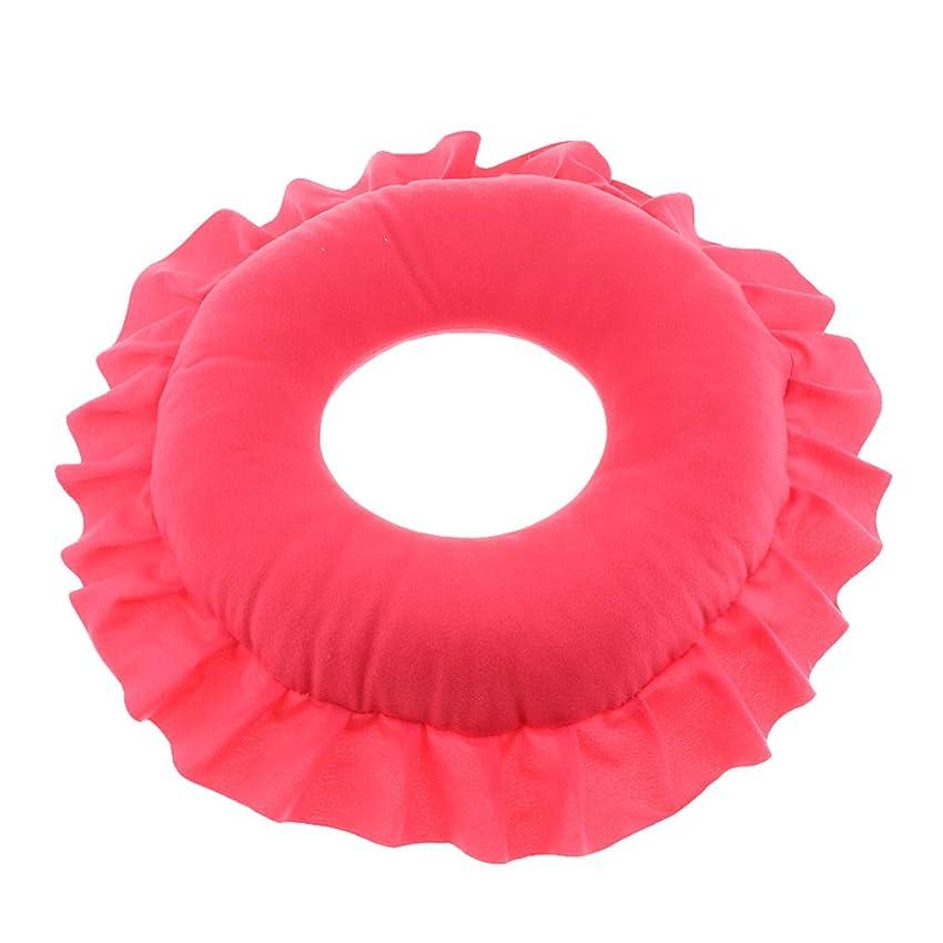 コレクション発生パス全4色 フェイスピロー 顔枕 マッサージピロー クッション 美容院 快適 洗える 実用的 - 赤