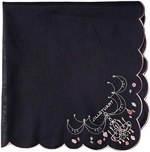 [ジル・スチュアート] レディース 刺繍ハンカチ 9101048 ブラック 日本 48cm×48cm (FREE サイズ)
