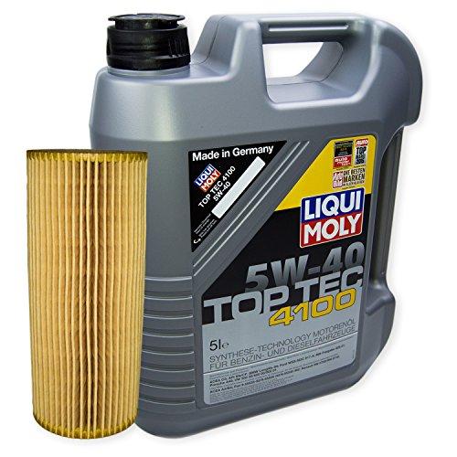 LIQUI MOLY Top Tec 4100 5W-40 3701 + MANN FILTER Ölfilter HU 726/2 x
