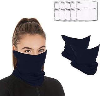 Face mask reusable with 10pcs Carbon Filters, Scarf Mask Neck Gaiter face mask, Washable Bandana face mask for Men Women
