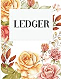 Floral Ledger: 8.5x11' Glossy Flower Accounting Ledger Book