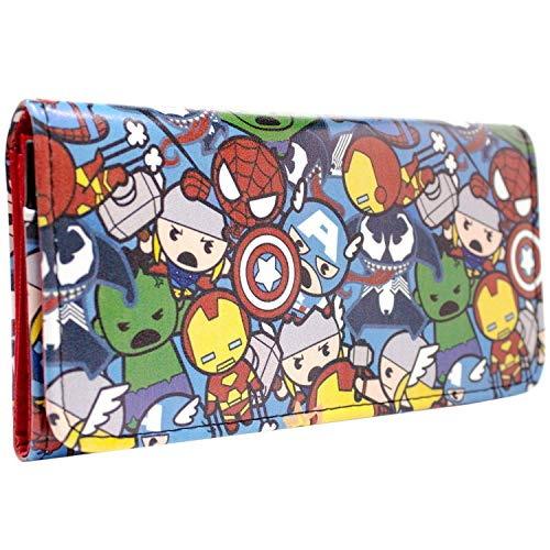 Avengers Kawaii Personnage Portefeuille Rouge