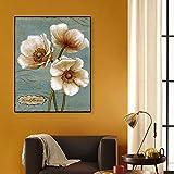 RTCKF Rétro Affiche Abstraite Floral Toile Peinture Moderne Floral Mur Art Toile Peinture pour Enfants décoration de la Maison Mur escalier Salon Décoratif Mural A4 60x80 cm