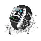 スマートウォッチ 最新版 心拍計 血圧計 スマートブレスレット 歩数計 活動量計 IP67完全防水 消費...