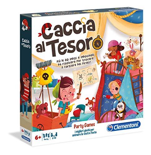 Clementoni- Party Games-Caccia al Tesoro Gioco da...