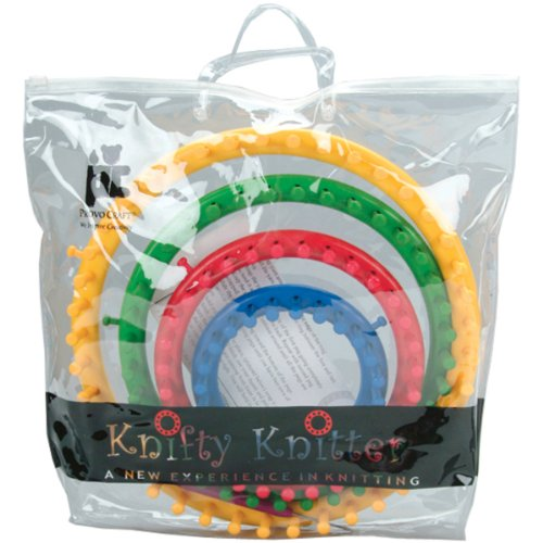 Knifty Knitter Round Loom Set with Hook