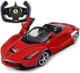 Zhangl Haute vitesse RC voiture échelle 1:14 voiture de course Drift Radio Télécommande Rouge RTR Super Sport LED hors route du véhicule Portes modèle de voiture électrique Phares voiture jouet for en