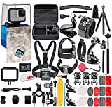 GoPro HERO7 White - Waterproof Action Camera with Touch Screen, Full HD Video, 10MP Photos, and Stabilization - with 64GB Micro Sd Card and 50 Piece Accessory Kit - Fully Loaded Bundle