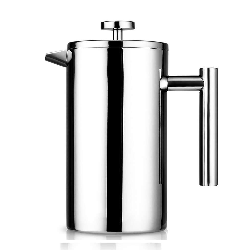 Cafetera, Olla de presión de Acero Inoxidable, Cafetera Francesa, Olla de Filtro, Tetera, Capacidad 1l: Amazon.es: Hogar