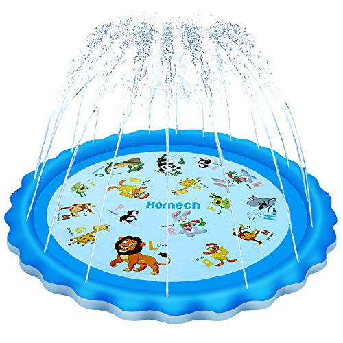 Homech Sprinkler for Kids, Splash Pad, Outdoor Inflatable Sprinkler Water Toys,...