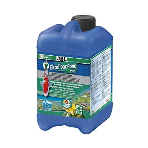 JBL Ektol bac Pond Plus 27142 Heilmittel gegen Bakterien und Flossenfäule bei Teichfischen, 2,5 l