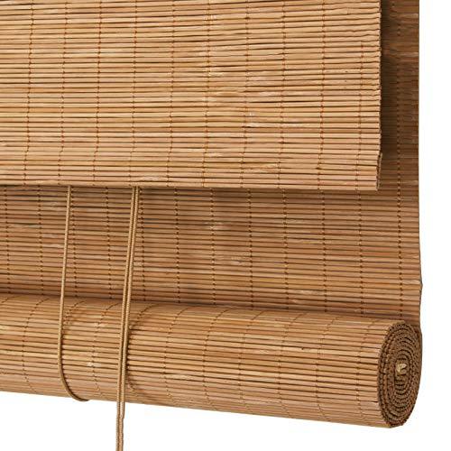 YILANJUN Natural Estores de Bambú Impermeable al Aire Libre,Artesanía Ingeniosa,Sombra,Cortina Persiana Enrollables,Personalización de Soporte