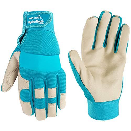 Wells Lamont Women s Hybrid Work Gardening Gloves   Water-Resistant HydraHyde Leather   Medium (3204M)