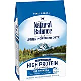 Natural Balance L.I.D. Limited Ingredient Diets High Protein Dry Cat Food, Tuna Formula, 5 Pounds, Grain Free