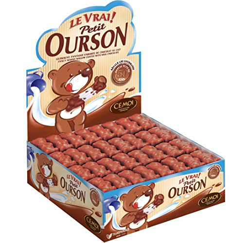 Cémoi Présentoir l'Authentique Petit Ourson Guimauve Chocolat au Lait 160 Pièces 1,49 kg