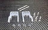 Raidenracing Aluminum Alloy Rear Damper Lower Suspension Link Mount Upgrade Parts for Tamiya CC01 Pajero Unimog - Silver -