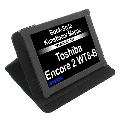 foto-kontor Tasche für Toshiba Encore 2 WT8-B Book Style Schutz Hülle Buch schwarz