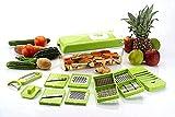 LIUA 12 in 1 Multi-Purpose Vegetable and Fruit Chopper, Fruit Grater, Slicer Dicer, Chipper, Peeler, Hand Chopper, Cutter , with Pizza Cutter Kitchen Accessories