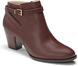 Women's Upright Upton Ankle Boot - Ladies Walking Booties with Concealed Orthotic Arch Support