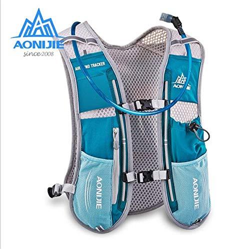 AONIJIE水和パックバックパックマラソン選手ランニングレース用水和ベスト1.5Lブラダー付5Lミントグリーン