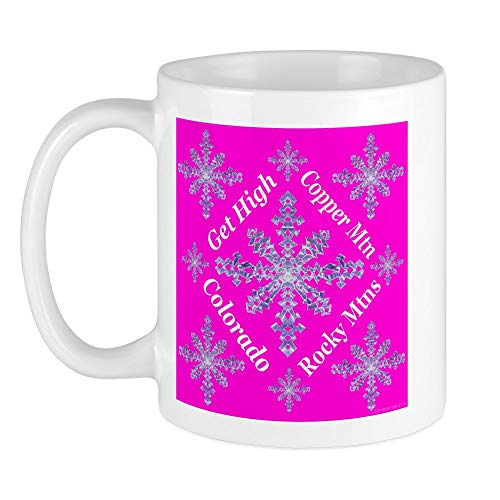 CafePress Copper Mtn Snowflakes Get Hig Mug Unique Coffee Mug, Coffee Cup