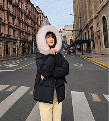 HSXQL donsjack met capuchon, voor dames, korte jas, voor dames, parka casual trenchjack