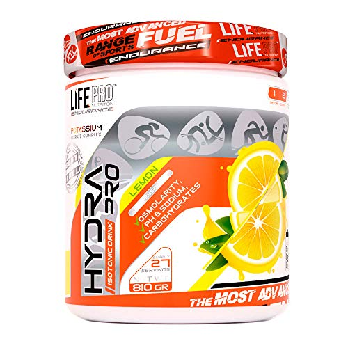 Life Pro Endurance Hydra Pro Carb, Potassium and Sodium Sports Supplement for Fast Energy and Hydration - Maximizes Post Workout Recovery - 810g - Lemon Flavor