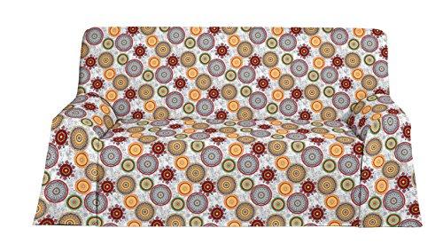 Martina Home Mikonos Foulard Multiusos, Tela, Verde, 180x130x3 cm