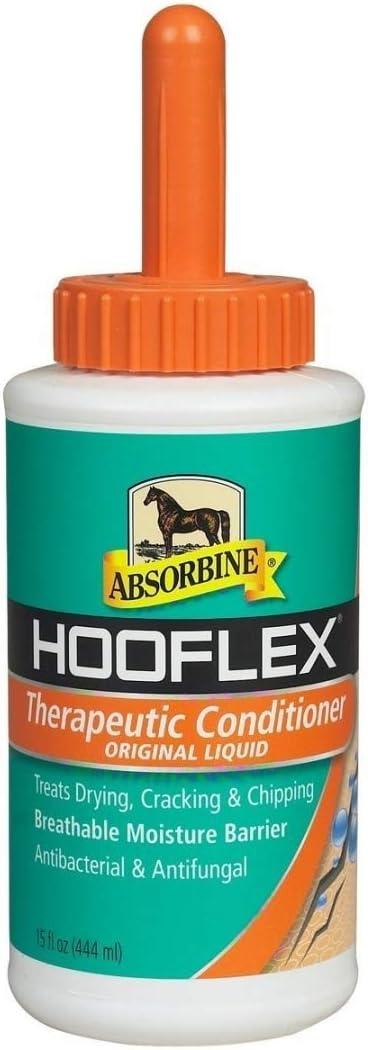 Este líquido acondicionador Absorbine Hooflex casco (450 ml o 887 ml) - protege contra secado y craqueo