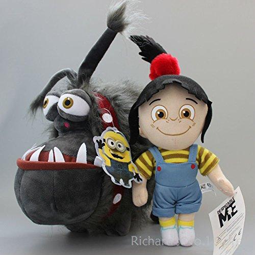 2 pcs/set Despicable ME Minions Gru 's Pet Dog Kyle Gril Agnes Soft Plush Toys Stuffed Animal Doll Kid Baby Xmas Gift Toy 10 set