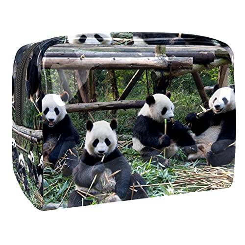 Panda Cute 18,5 x 7,6 x 13 cm cepillo bolsa de aseo bolsa de viaje maquillaje bolsa para mujeres niñas, Multi-1, 18.5x7.5x13cm/7.3x3x5.1in,