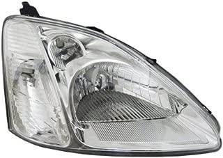 Koolzap For 02-03 Civic Si Hatchback Headlight Headlamp Head Light Lamp Right Passenger Side