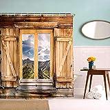Broshan Marmor-Duschvorhang, modern, Retro, abstraktes Steinmuster, Badevorhang, Kunstdruck, Polyester, wasserdicht, mit Haken, 183 x 183 cm Country 72Wx72L Multi A3
